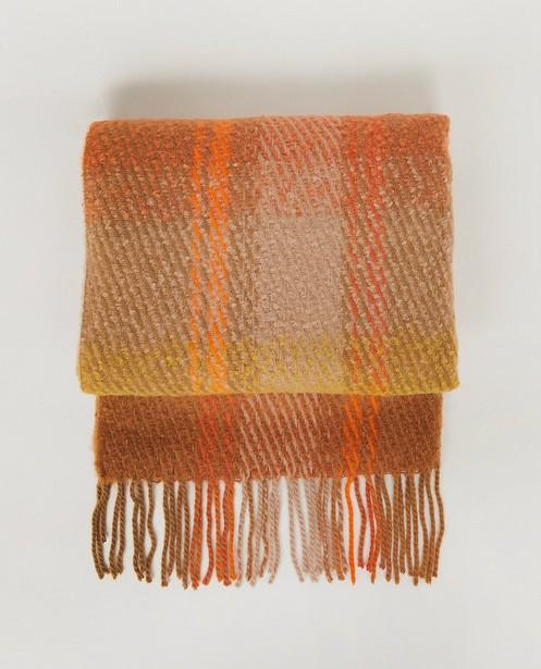 Oranje-bruine sjaal Pieces - zachte handfeel - Pieces