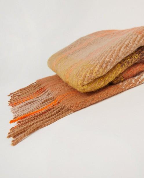 Breigoed - Oranje-bruine sjaal Pieces