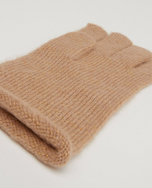 Breigoed - Bruine handschoenen Pieces