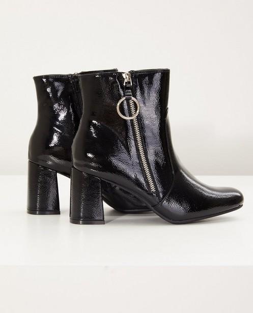 Zwarte laklaarzen, maat 36-41 - met ritssluiting - Sprox