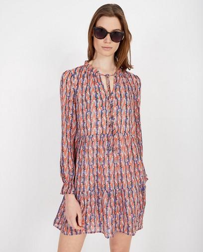 Roze jurk met print