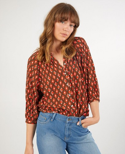 blouse met print