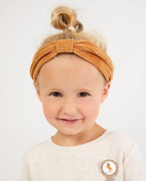 Cognacfarbenes Haarband Hampton Bays - aus Samt - Hampton Bays