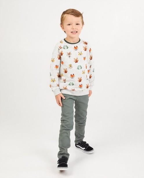 Beige sweater met print Wickie - gemêleerd - Wickie
