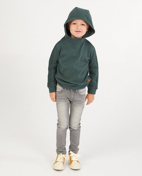 Groene sweater Wickie - met ribdetail - Wickie