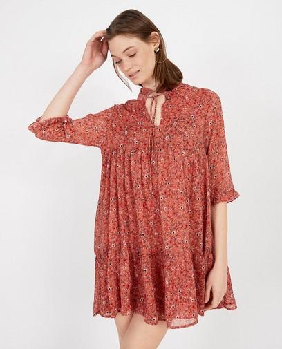 Robe rose foncé, imprimé