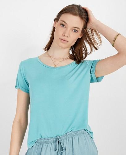 T-shirt in blauw