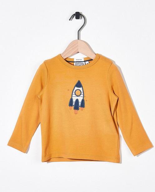 T-shirt jaune ocre à manches longues Bumba - stretch - Bumba