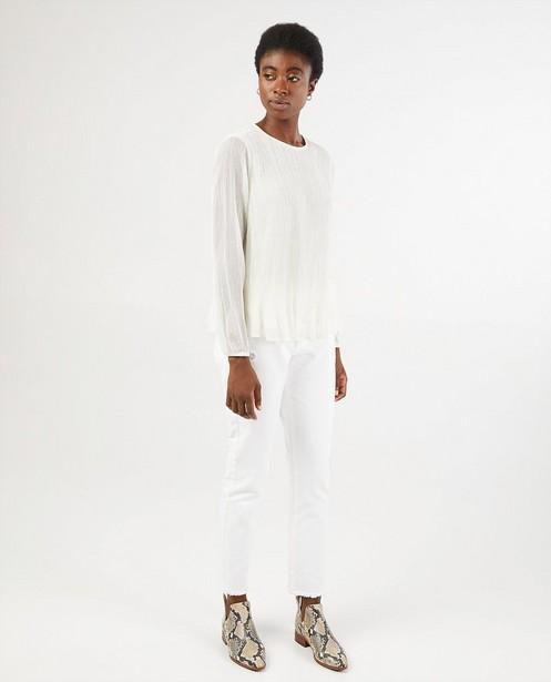 Witte plissé blouse Sara De Paduwa - met metaaldraad - Sara de Paduwa