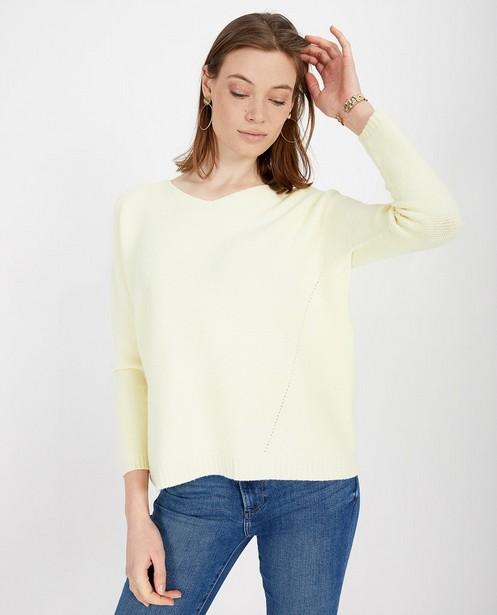 Pulls - Pull jaune tricoté