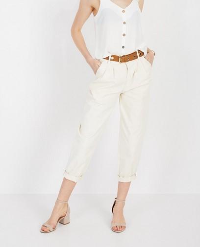 Pantalon blanc baggy