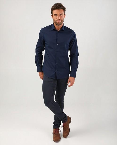 Donkerblauw hemd - stretch - Iveo