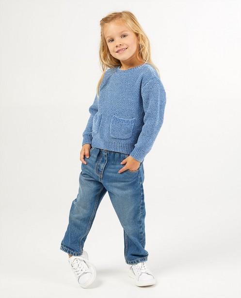 Pull bleu avec fil métallisé - et 2 poches - Milla Star