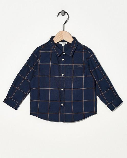 Blauw hemd met ruitpatroon - allover - Cuddles and Smiles