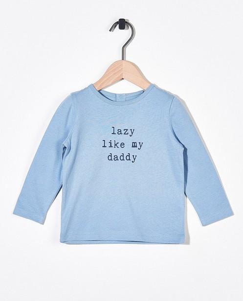 T-shirt bleu à manches longues BESTies - à inscription - Besties
