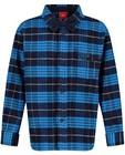 Geruit hemd met strikje s.Oliver - in blauw - S. Oliver