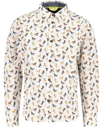 Wit hemd met print Hampton Bays