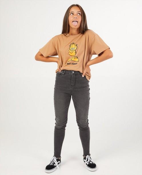 Garfield-shirt van biokatoen - in bruin - Groggy