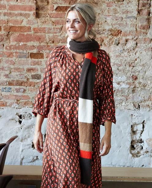 Sjaal met stroken Karen Damen - van wol - Karen Damen