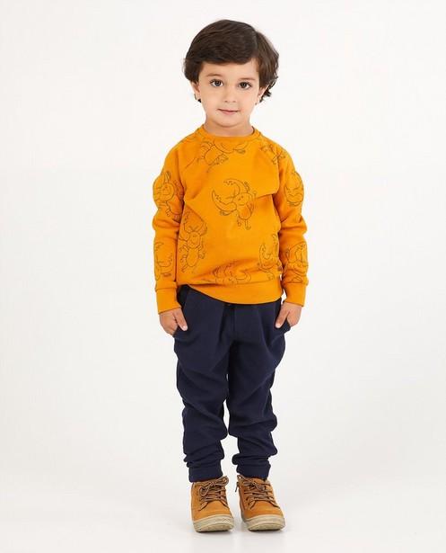 Okergele sweater Maya - allover - Maya