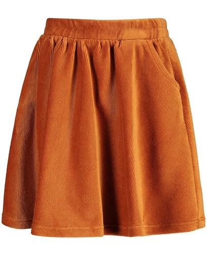 Oranje ribfluwelen rok BESTies
