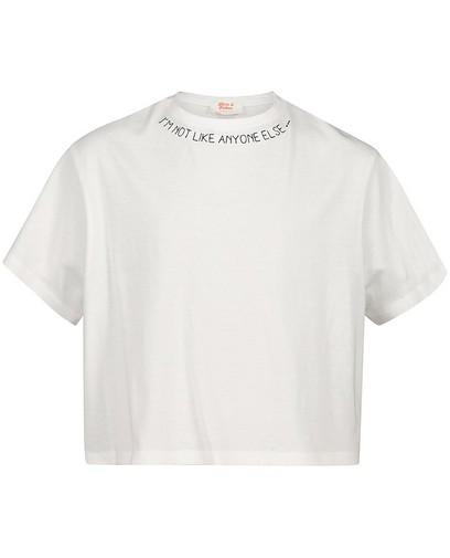 T-shirt met tekst Nour en Fatma