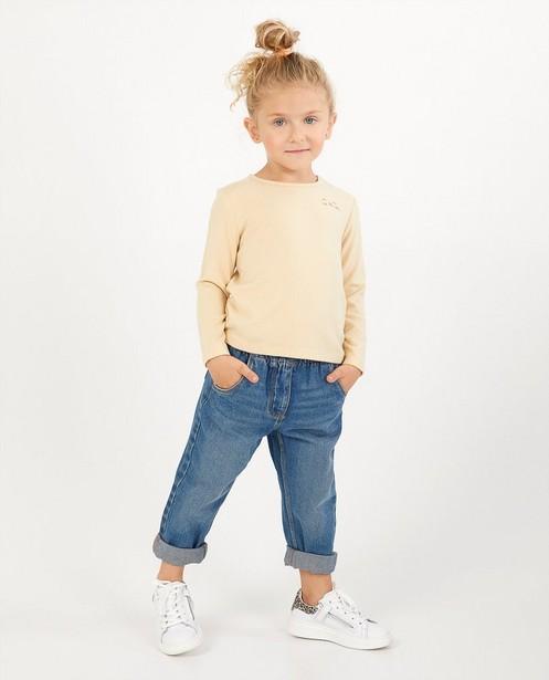 T-shirt beige à manches longues - en fin tricot - Milla Star