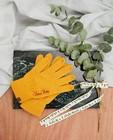 Gele handschoenen, Studio Unique - personaliseerbaar - JBC