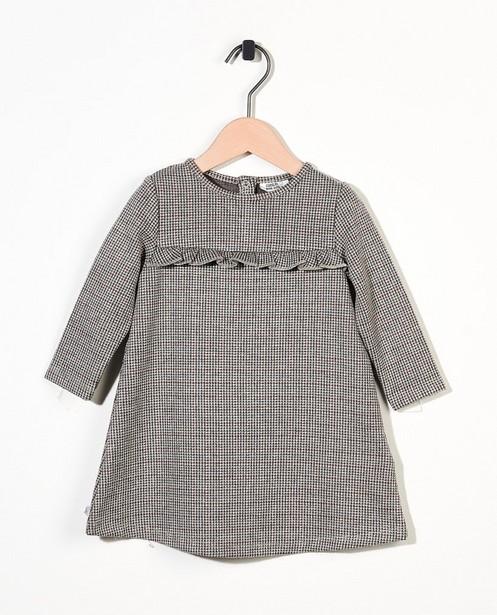 Grijs jurkje met print - allover - Cuddles and Smiles