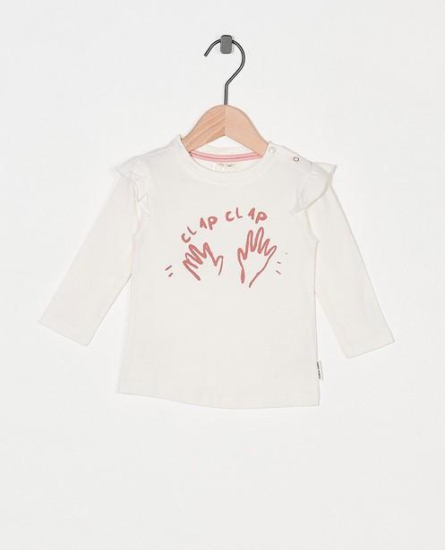 T-shirt à manches longues à imprimé Tumble 'n Dry - blanc et rose - Tumble 'n Dry