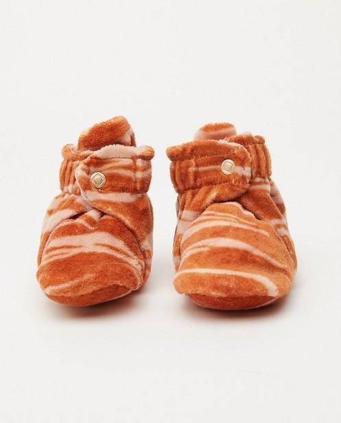 Pantoufles à imprimé de zèbre Tumble 'n Dry - orange et rose - Tumble 'n Dry