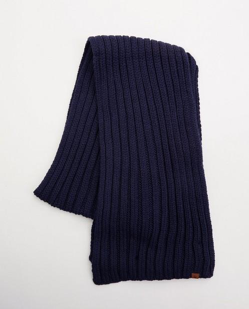 Écharpe bleue - tricot - JBC