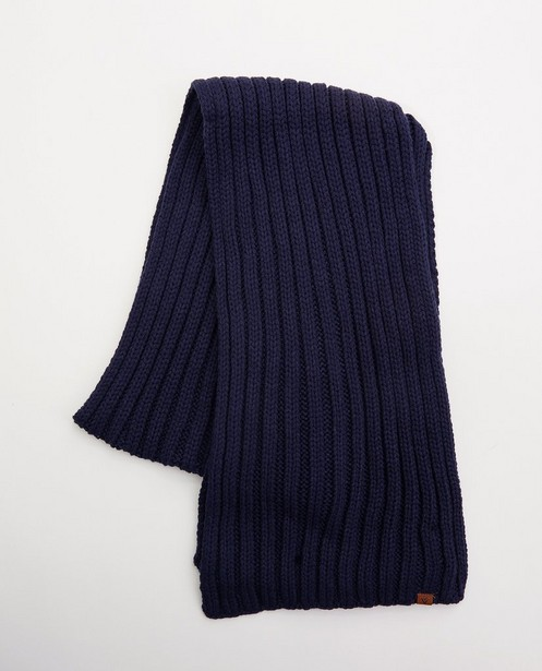 Donkerblauwe sjaal - Gebreid - JBC