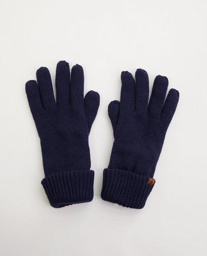 Blauwe handschoenen met fleece