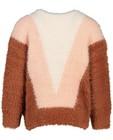 Truien - Pluizige trui met color block