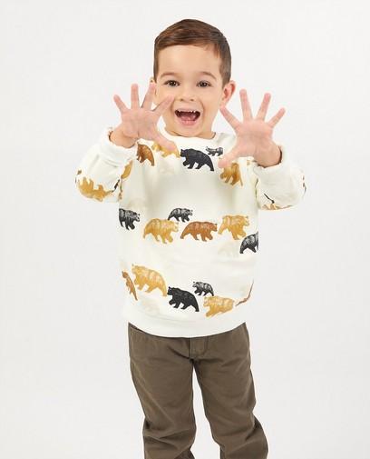 Beige sweater met beren