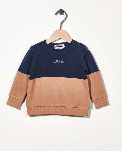 Sweater met opschrift (NL)