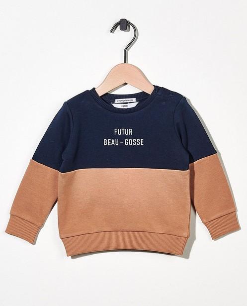 Sweater mit Aufschrift (FR) - #familystories - Familystories