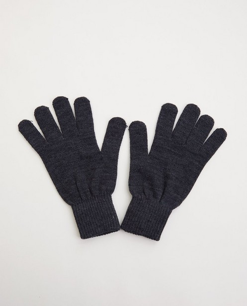 Gants gris - one size - fin tricot - JBC