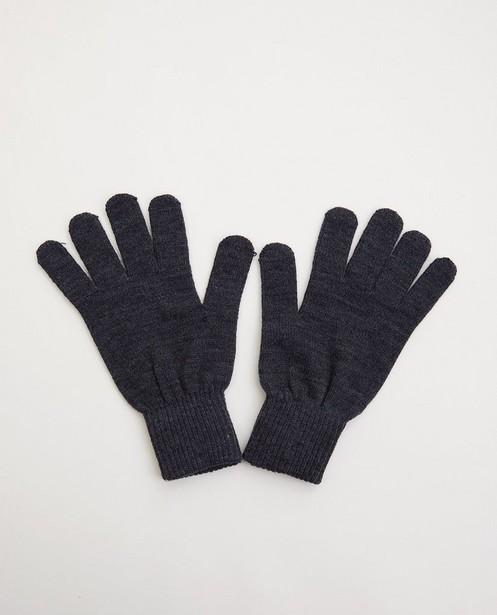 Grijze handschoenen - one size - fijne brei - JBC