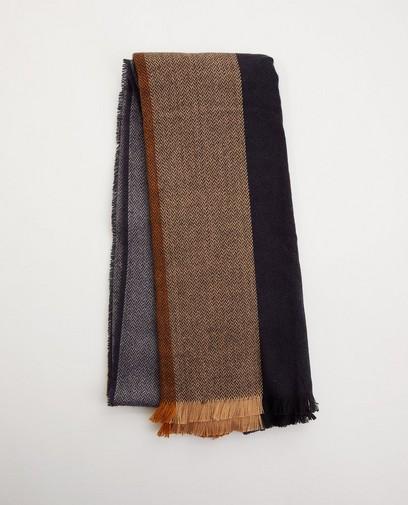 Donkerblauwe sjaal met motief