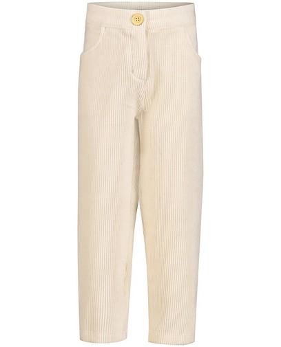 Pantalon écru en velours côtelé