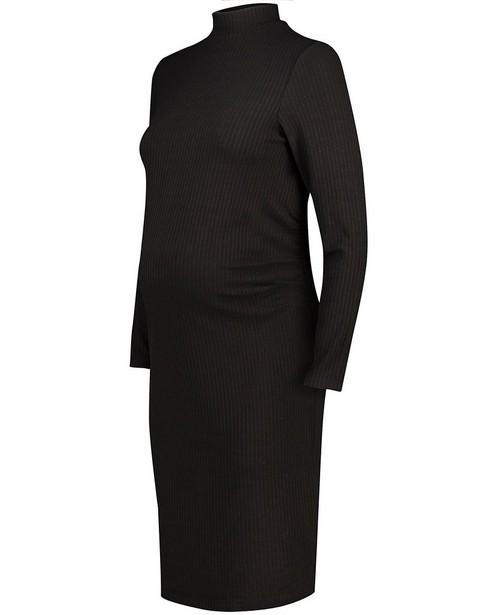 Robe noire à relief côtelé JoliRonde - grossesse - Joli Ronde