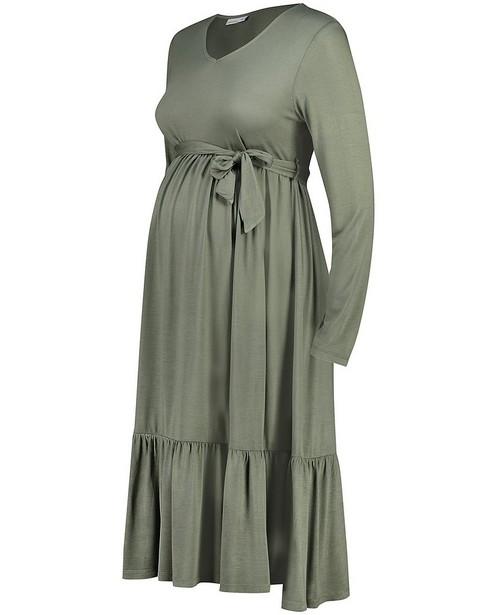 Kakigroene jurk JoliRonde - zwangerschap - Joli Ronde