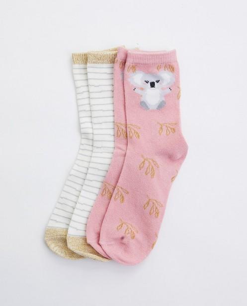 Lot de 2 paires de chaussettes avec imprimé - avec fil métallisé - JBC