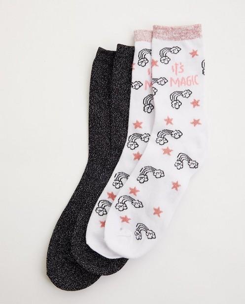 Lot de 2 paires de chaussettes - licorne - avec imprimé - JBC