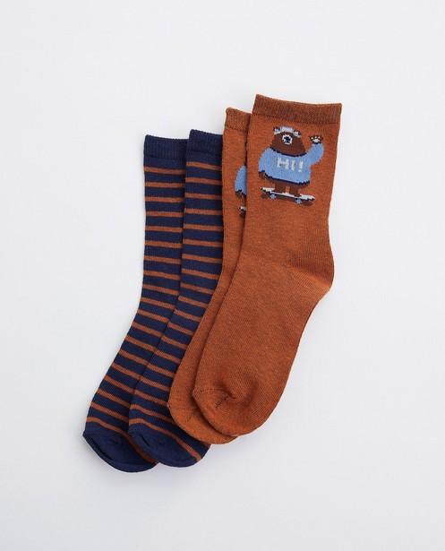 Set mit 2 Paar Socken - Bär - mit Print - JBC