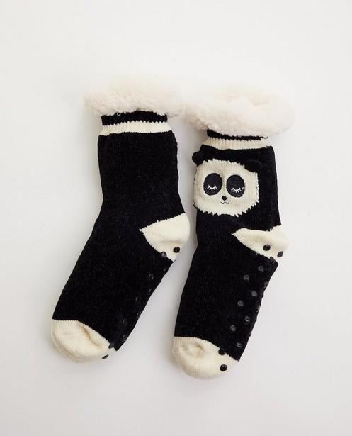Chaussettes antidérapantes - panda - avec fausse fourrure - JBC