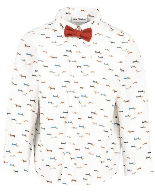 Chemise blanche avec imprimé et nœud papillon - Imprimé intégral - Kidz Nation