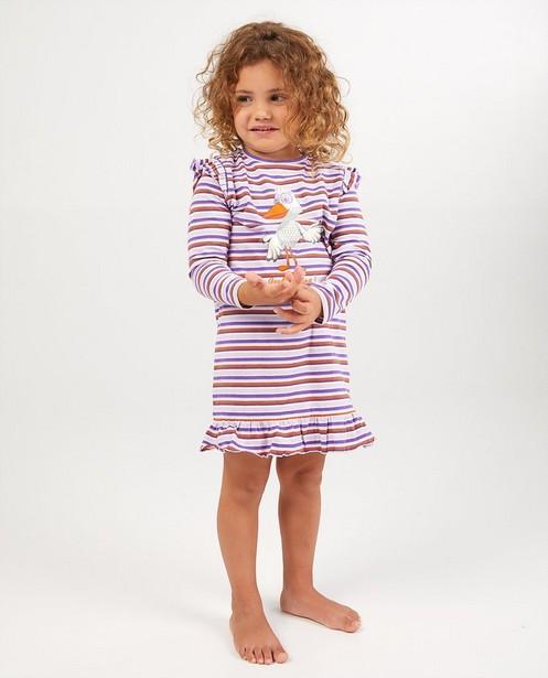 Pyjama met strepen Fabeltjeskrant - paars - Fabeltjeskrant